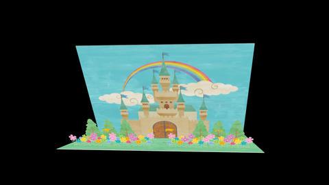 Popup Letter Castle Stock Video Footage