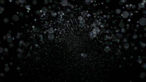 falling snowflakes & particles at night Stock Video Footage