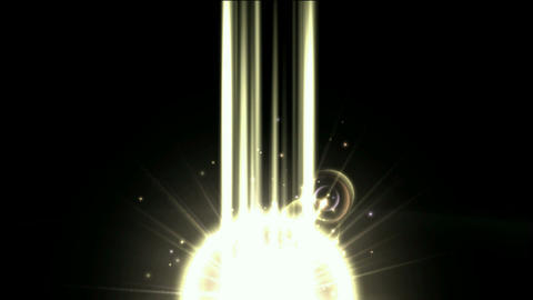 nuclear explosion,power tech electron energy field launch rays laser in darkness Animation