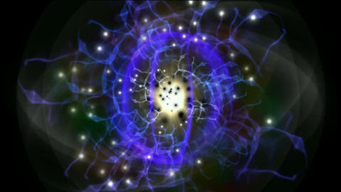 fusion atom quantum energy field,explosion,cable energy... Stock Video Footage