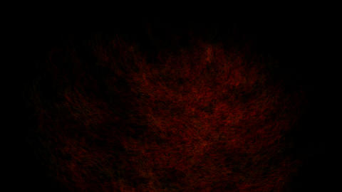 wind blow red smoke & dust at night Stock Video Footage
