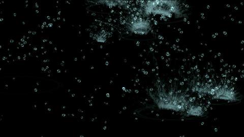 splash geyser,waterdrop & ripple in pond Stock Video Footage