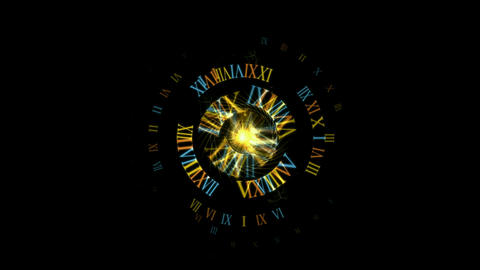 rotate roman number & rays light,tech time... Stock Video Footage