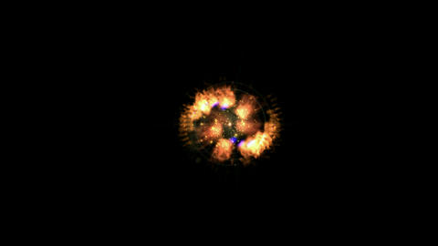 rotate fire halo & rays laser shaped tunnel in... Stock Video Footage