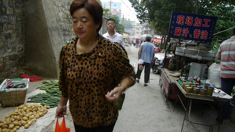 China town fairs market,selling sesame-oil Stock Video Footage