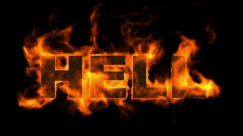 hell,fire word Animation