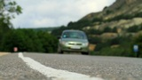 movement of vehicles along a mountain road Footage