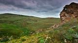 timelapse. Crimean steppe landscape Footage