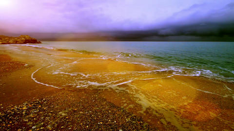 seascape in a quiet bay Stock Video Footage