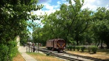 time lapse children's railway Footage