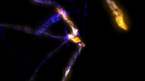 blowout fire rays laser in darkness space,power tech electron energy field Animation