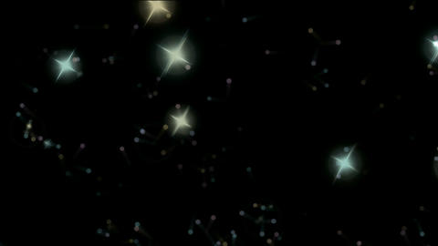stars & falling dots as holiday background Stock Video Footage