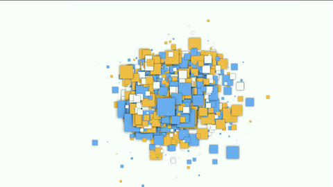color square papers and mosaic debris background Animation