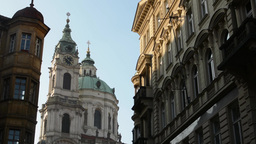 PRAGUE, CZECH REPUBLIC - MARCH 2014: St. Nicholas Church (Mala Strana) with othe Footage