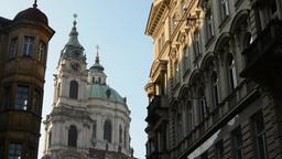 PRAGUE, CZECH REPUBLIC - MARCH 2014: St. Nicholas Church (Mala Strana) with othe Footage