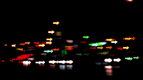 Night traffic Bokeh Bokeh from car light on the traffic road Arrow 1 Live Action