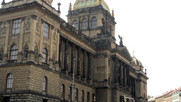 PRAGUE, CZECH REPUBLIC - SEPTEMBER 2013: National Museum from the outside Footage