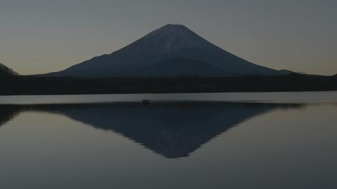 UHD/HD 朝焼けの逆さ富士 Mt.fuji Footage
