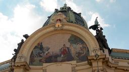 PRAGUE, CZECH REPUBLIC - SEPTEMBER 2013: Prague's Municipal House: from the outs Footage
