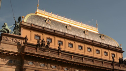 PRAGUE, CZECH REPUBLIC - SEPTEMBER 2013: National Theater from outside (roof) Footage
