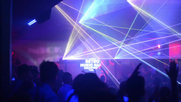 People dancing at a party (disco) - stage lights Footage