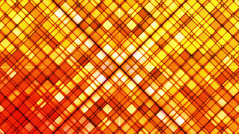 Broadcast Twinkling Cubic Diamonds, Red Orange, Abstract, Loopable, HD Animation