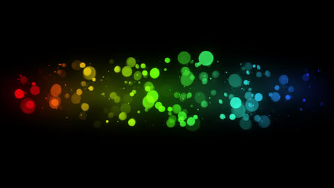 colorful bokeh lights loop background 4k (4096x2304) Animation