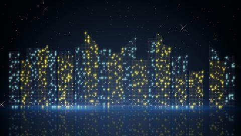 night city lights loopable animation 4k (4096x2304) Animation