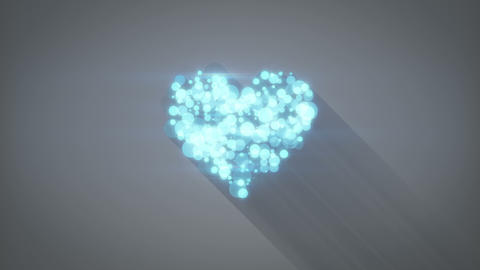 glowing blue heart shape loopable animation 4k (4096x2304) Animation