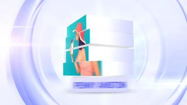 Cube Slide stock footage