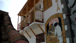 Spain Gran Canary Fataga 013 old bakery in mountain village Footage