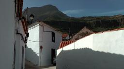 Spain Gran Canary Fataga 011 whitewashed walls in village Footage