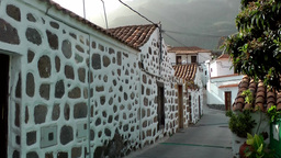 Spain Gran Canary Fataga 009 very small street in village Footage