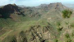Spain Gran Canary Fataga 001 dreamlike volcanic landscape Footage