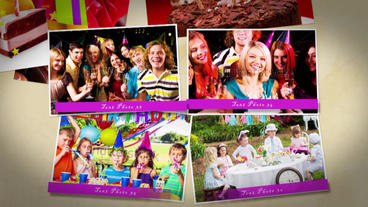 Happy Birthday slideshow After Effects Templates