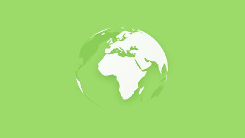 global team people, rotating world earth on green background Stock Video Footage