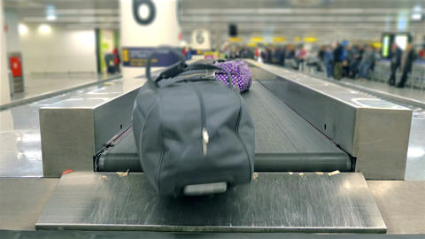 Video of luggage carousel at the airport in 4K Footage