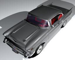 Chevrolet Bel Air 1957 gray coupe Cinema 4D buy シボレーベルエアーグ 3Dモデル