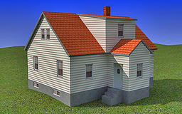 Old House 3D Model Modelo 3D