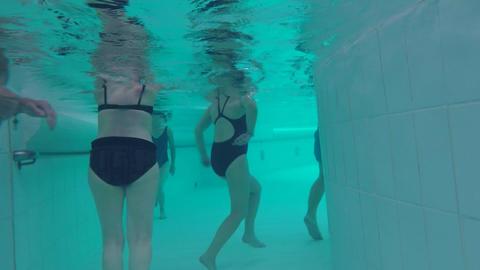 Pool Corridor Walking In Water