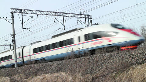 high-speed passenger train Sapsan Live Action