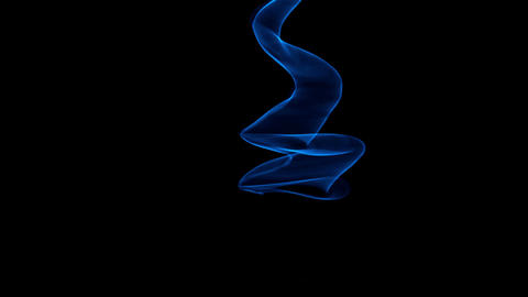 Glowing abstract curved blue lines - Light painted 4K video timelapse Animation