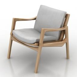 Armchair Chair of ivory 象牙の椅子 3Dモデル