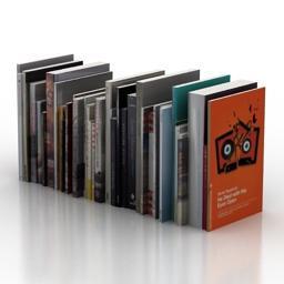 Books 3D buy 書籍3D購入 Modelo 3D