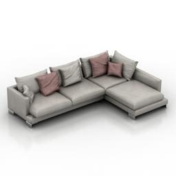 Sofa angled sofa 3D Modell