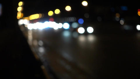 Cars Traffic Bokeh City Background