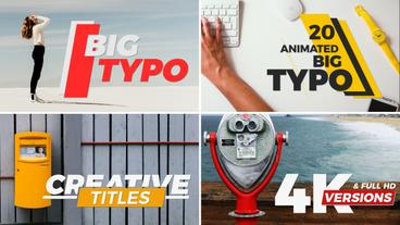 Big Typo After Effects Projekt