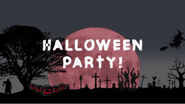 Halloween openers cartoon Apple Motionテンプレート