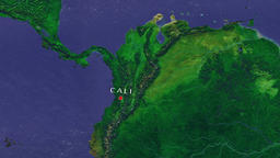 Cali - Colombia zoom in from space Animation