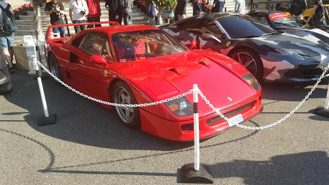 Red Ferrari F40 Footage
